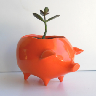 Pig planter in orange 3